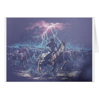 Lightning Herding Greeting Card