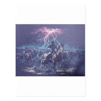 Lightning Herding Post Card