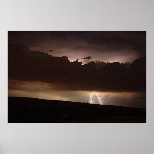Lightning in Boulder Poster