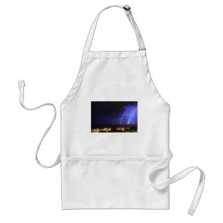 Lightning in Genoa, Italy Adult Apron