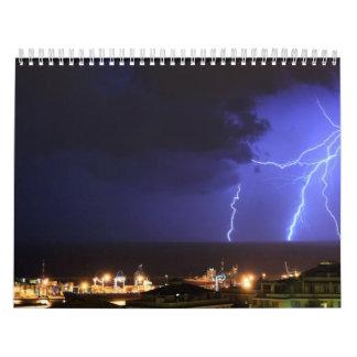 Lightning in Genoa, Italy Calendar