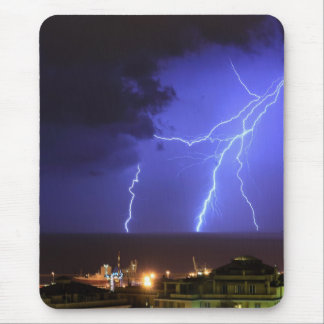 Lightning in Genoa, Italy Mouse Pad