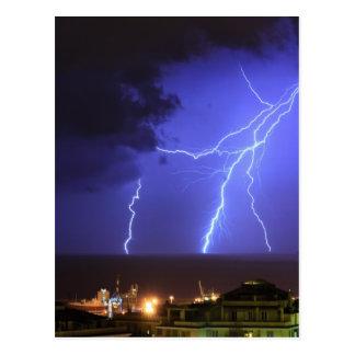 Lightning in Genoa, Italy Postcard
