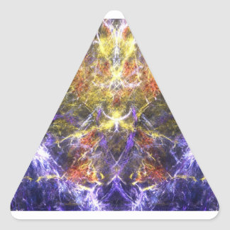 Lightning in the Mountains Triangle Sticker