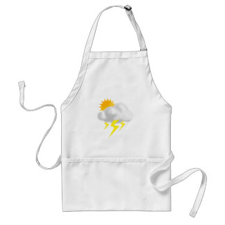 Lightning in Thunderstorm Cloud Adult Apron