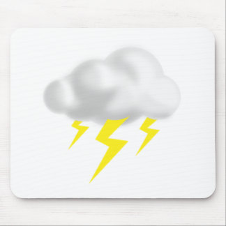 Lightning in Thunderstorm Cloud Mouse Pad