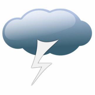 Lightning in Thunderstorm Cloud Statuette
