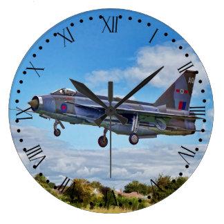 Lightning Jet - Roman Numerals Large Clock
