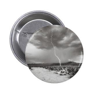 Lightning Joshua Tree B&W Button
