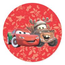 Lightning & Mater Classic Round Sticker