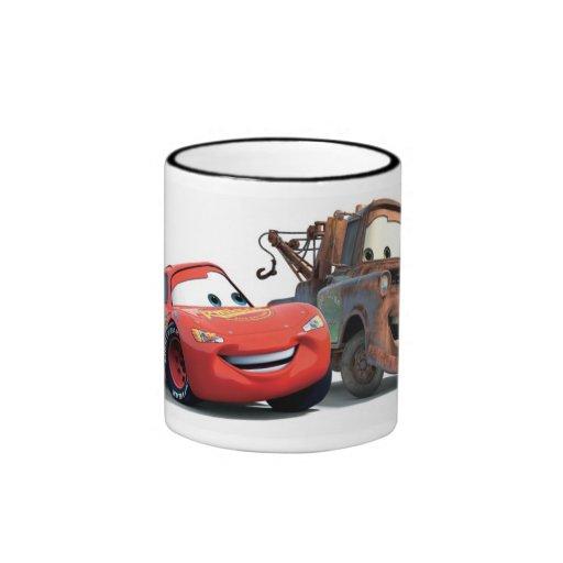 Lightning McQueen and Tow Mater Disney Ringer Coffee Mug