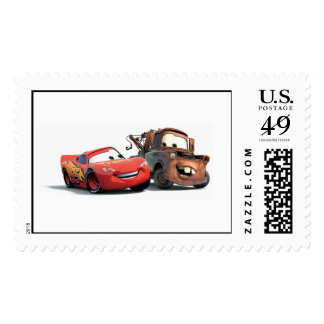Lightning McQueen and Tow Mater Disney Stamp