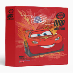 Avery Signature 1' Binder with Lightning McQueen at World Grand Prix design