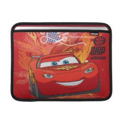 Macbook Air Sleeve with Lightning McQueen at World Grand Prix design