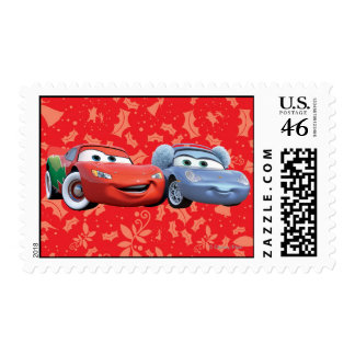 Lightning McQueen & Sally Postage Stamps