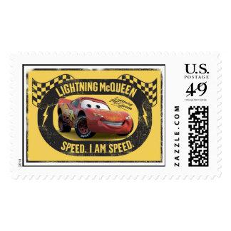 Lightning McQueen - Speed. I Am Speed Disney Stamp