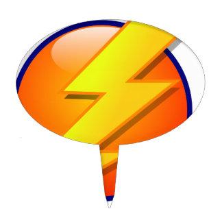 lightning orb energy icon vector cake topper