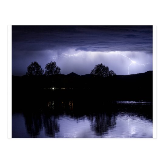 Lightning Over Coot Lake Postcard