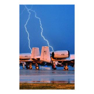 Lightning over fighter Jets Stationery