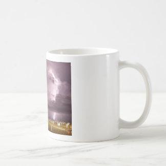 Lightning Over Miramare Di Rimini Italy Coffee Mug