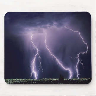 Lightning over Salt Lake Valley, Utah. Mouse Pad