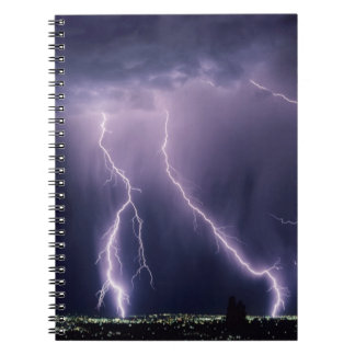 Lightning over Salt Lake Valley, Utah. Notebook