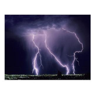 Lightning over Salt Lake Valley, Utah. Postcard