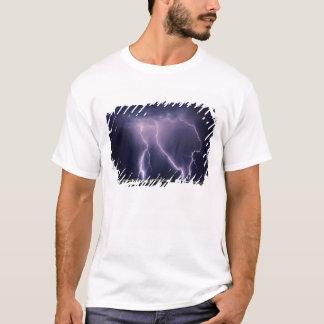 Lightning over Salt Lake Valley, Utah. T-Shirt
