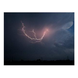 Lightning over the Rockies, USA Postcard