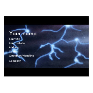 Lightning painting large business cards (Pack of 100)