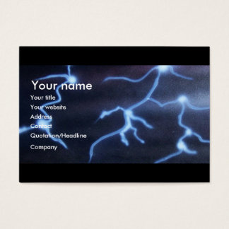Lightning painting business card