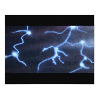 Lightning painting card