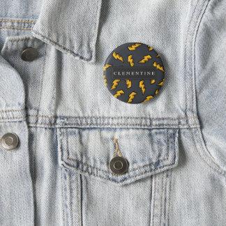 Lightning Pattern Pinback Button