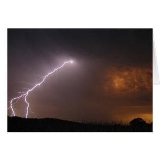 lightning photograph card