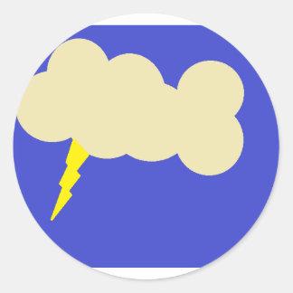 lightning.png classic round sticker