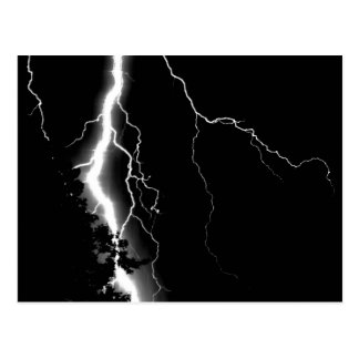 Lightning. Postcard