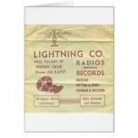 Lightning Records Stuff Greeting Cards