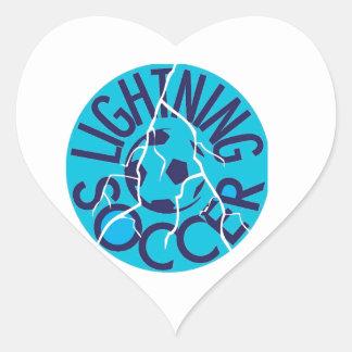 Lightning Soccer Team Heart Sticker