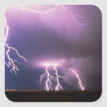 Lightning. Square Sticker