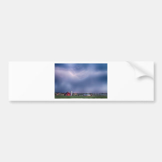 Lightning Storm And The Big Red Barn Bumper Sticker