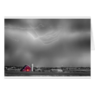 Lightning Storm And The Big Red Barn BWSC Card