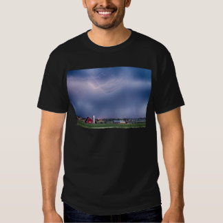 Lightning Storm And The Big Red Barn T Shirt