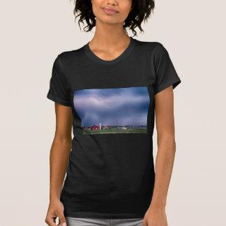 Lightning Storm And The Big Red Barn Tee Shirt