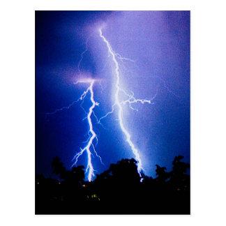 Lightning storm in Ukraine Post Card