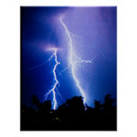 Lightning storm in Ukraine Poster