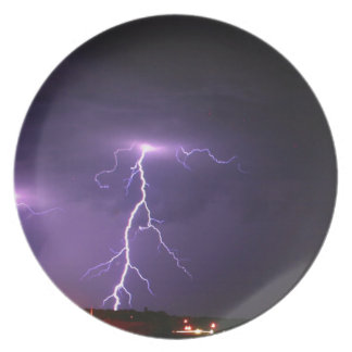 Lightning storm party plate
