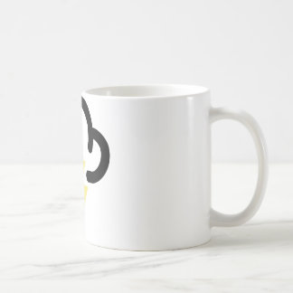 Lightning storm: retro weather forecast symbol coffee mug