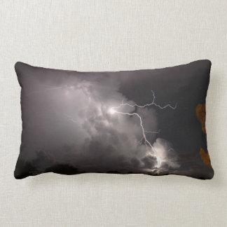 Lightning storm & Silhouette tree Pillows