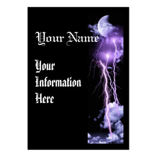 Lightning storm vertical business prolfile card business card templates