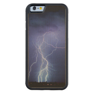 Lightning Strike 3 Carved Maple iPhone 6 Bumper Case